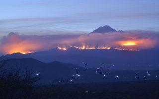 Fire Guts slopes of Mount Kilimanjaro