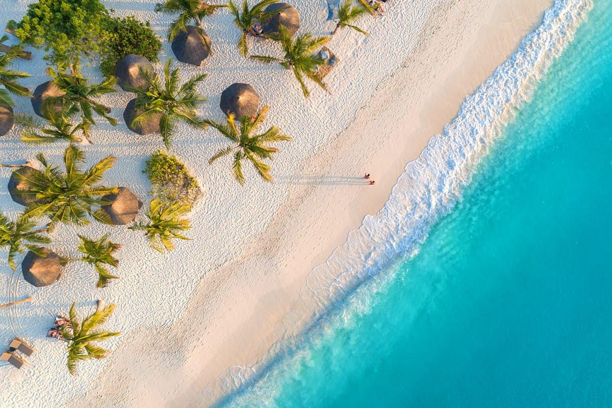 sand beaches of Zanzibar